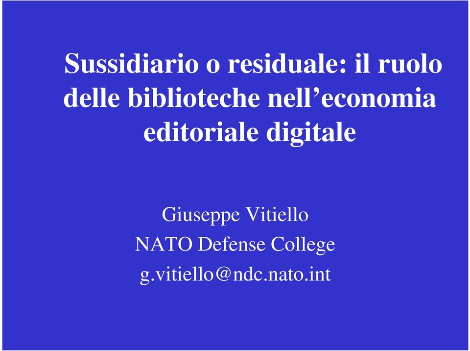 editoriale digitale Giuseppe