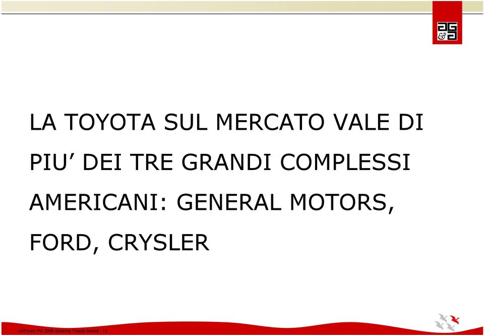 GENERAL MOTORS, FORD, CRYSLER