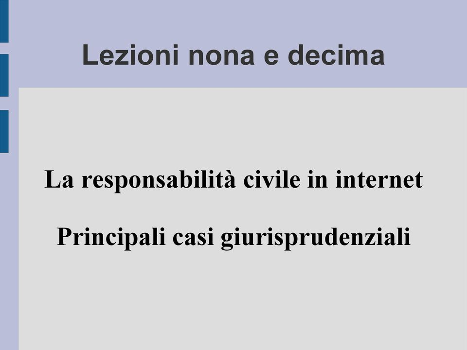 civile in internet