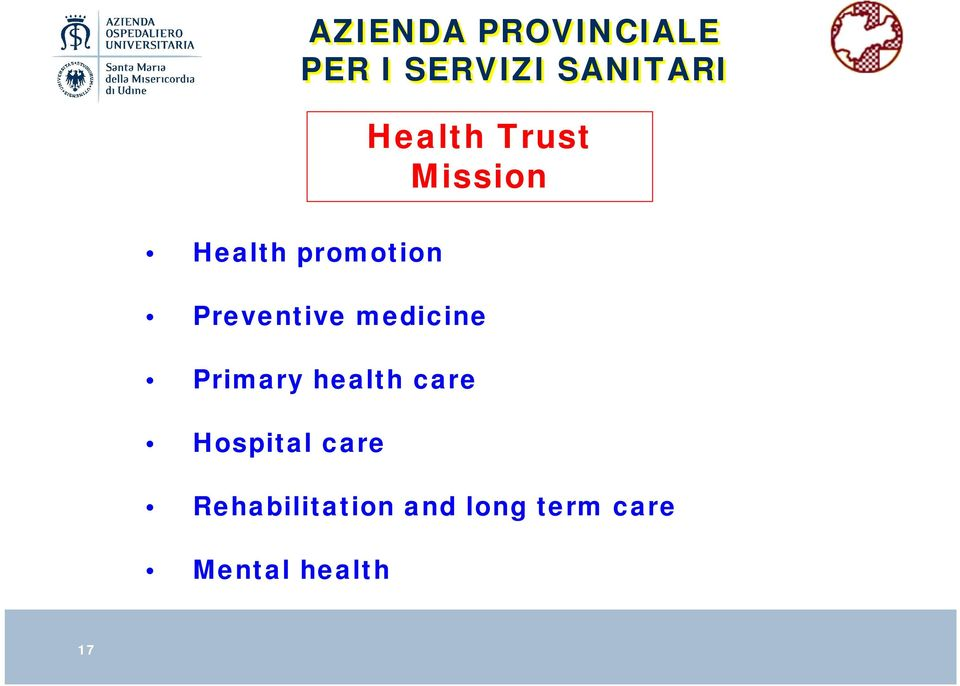 long term care Mental health AZIENDA