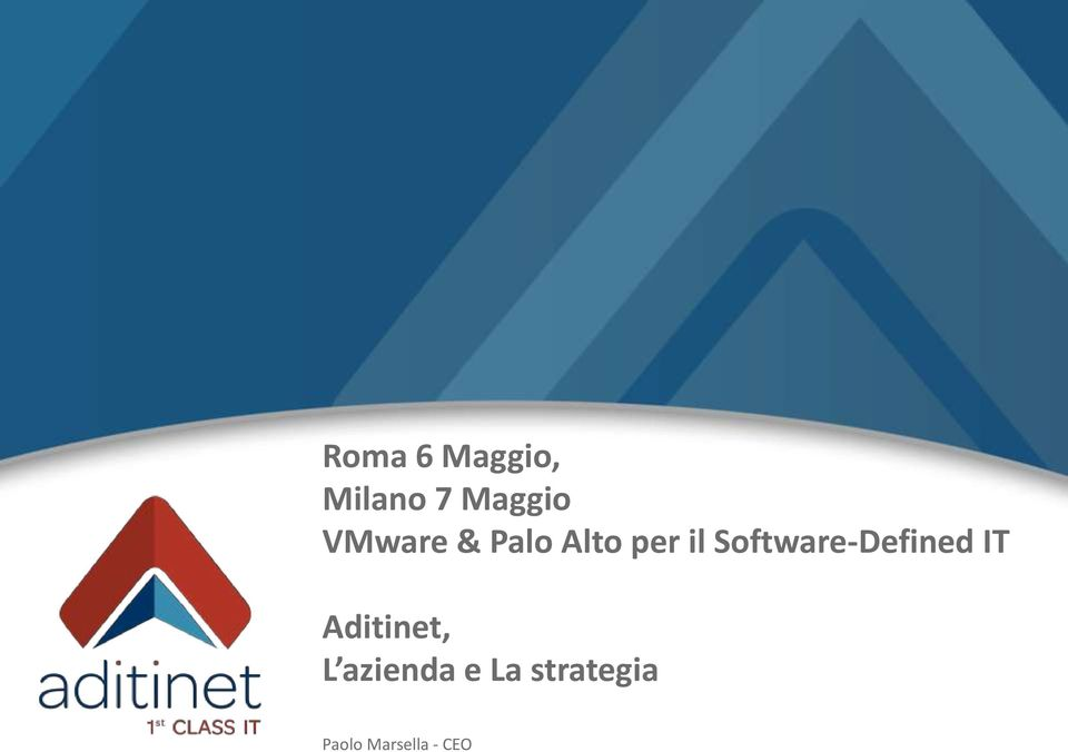 Software-Defined IT Aditinet, L