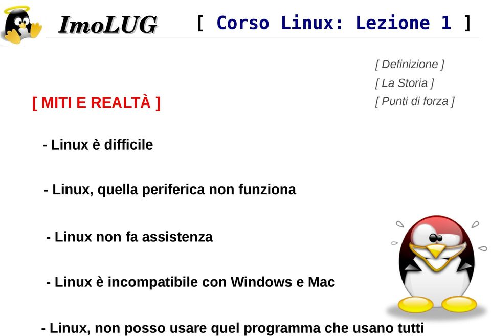 assistenza - Linux è incompatibile con Windows e