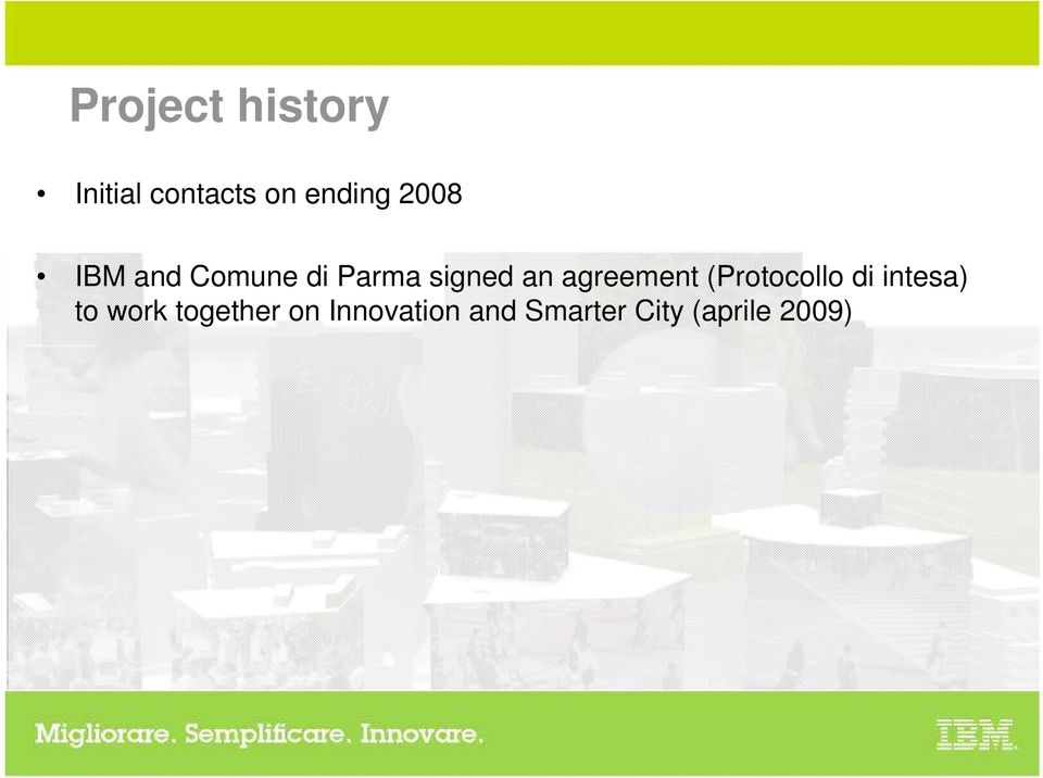 agreement (Protocollo di intesa) to work