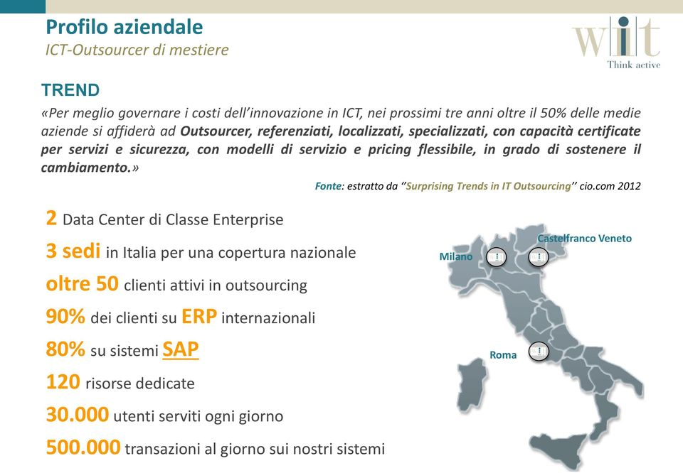 cambiamento.» Fonte: estratto da Surprising Trends in IT Outsourcing cio.