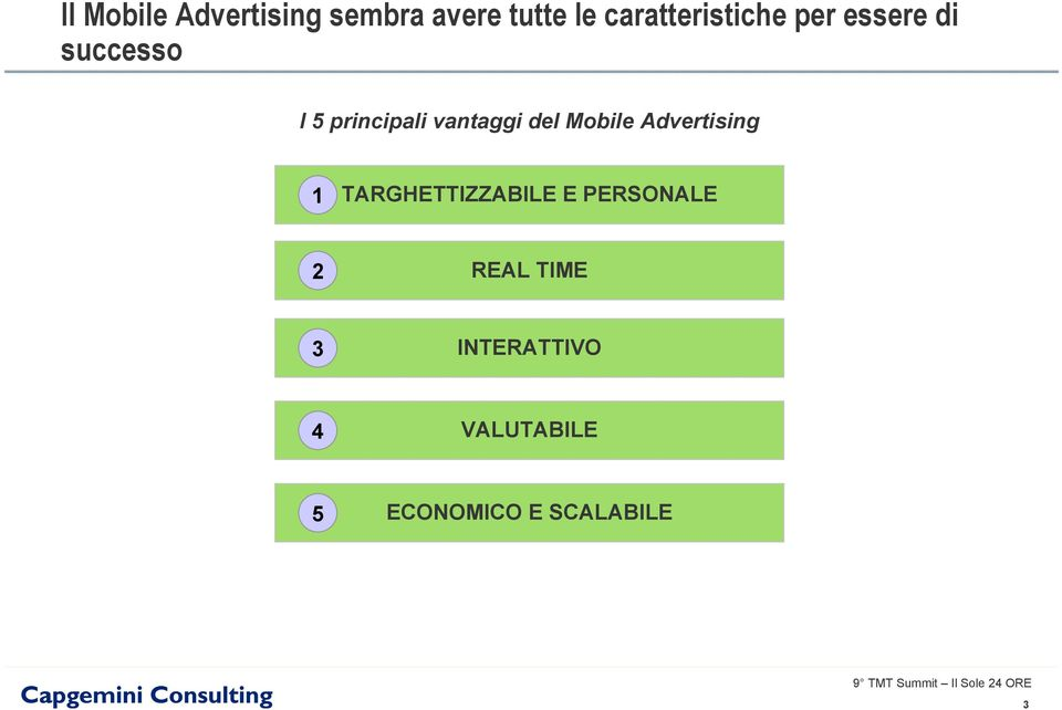 vantaggi del Mobile Advertising 1 TARGHETTIZZABILE E