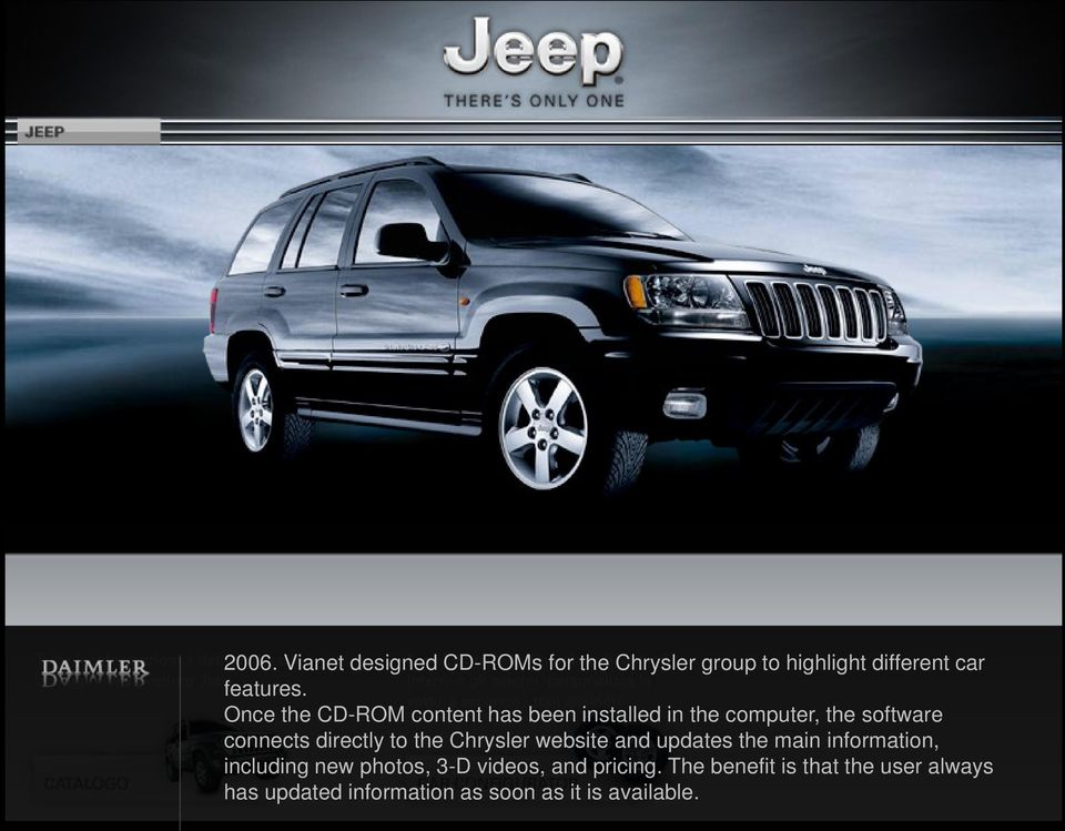 the Chrysler website and updates the main information, including new photos, 3-D videos, and