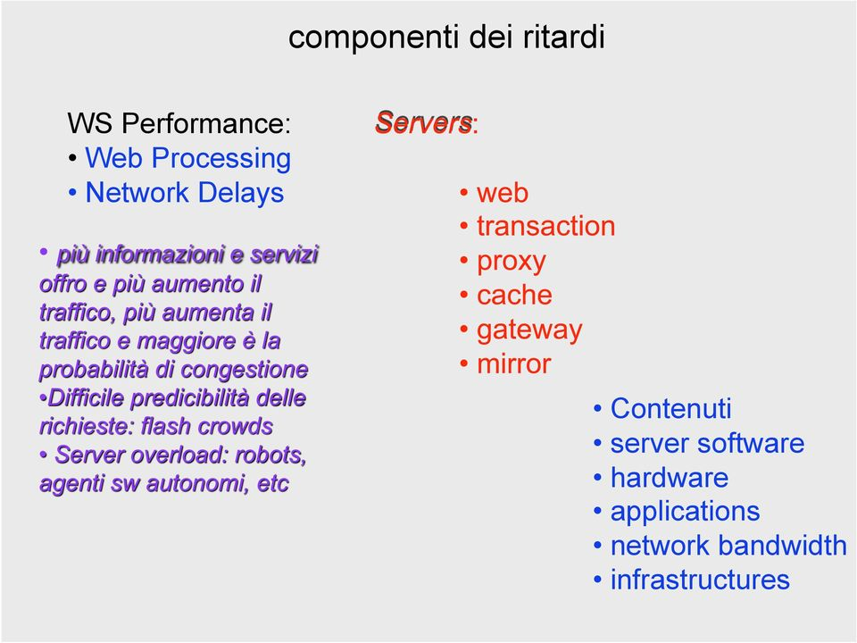 Delays Contenuti server software