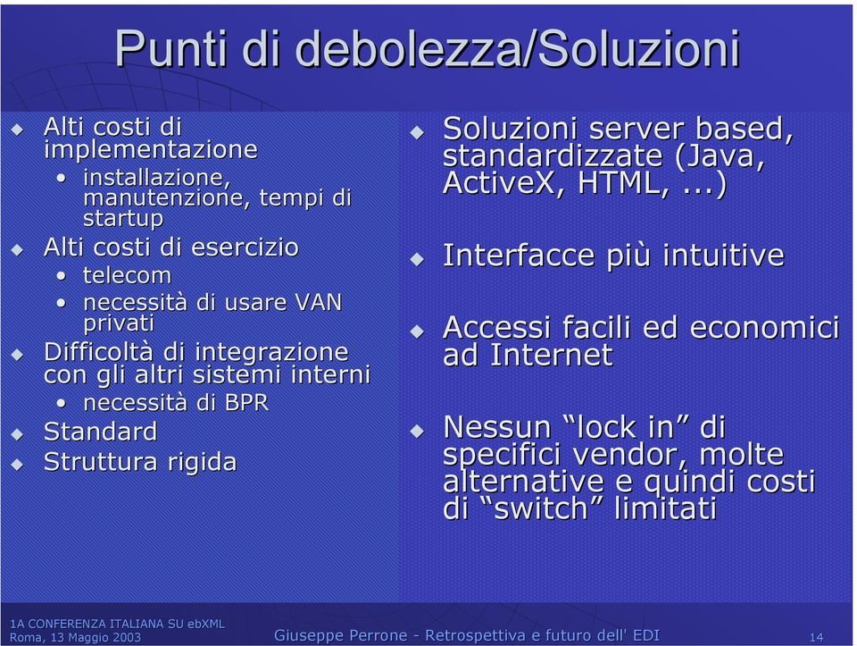 Soluzioni server based, standardizzate (Java, ActiveX, HTML,,.