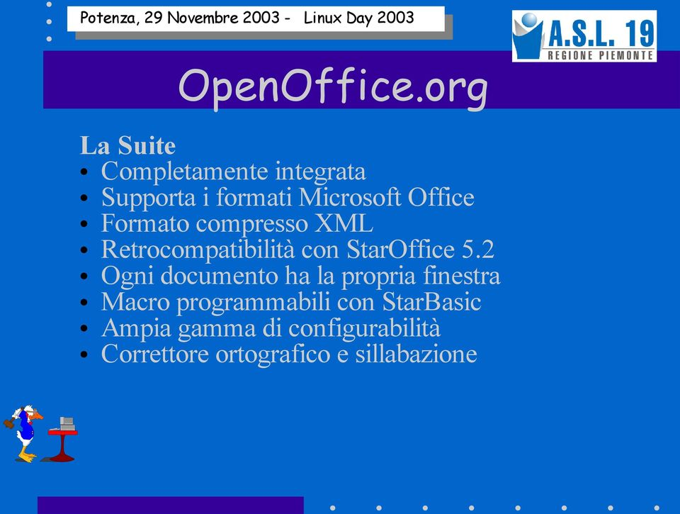 Office Formato compresso XML Retrocompatibilità con StarOffice 5.