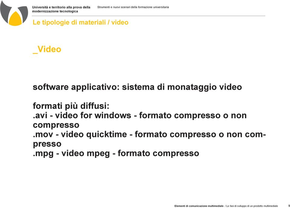 mov - video quicktime - formato compresso o non compresso.