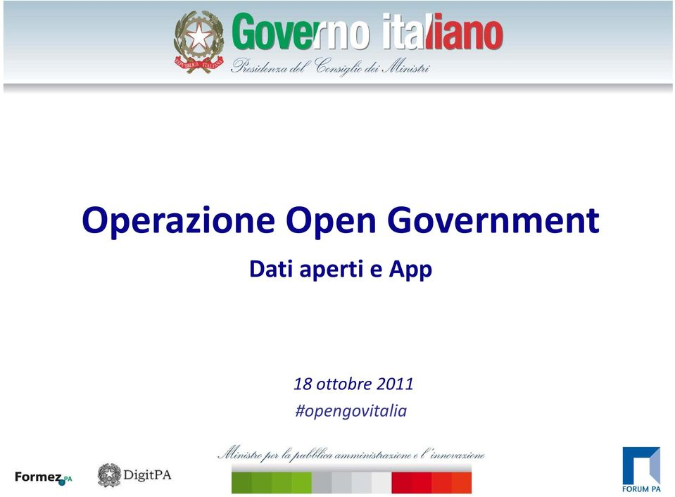 Government Dati aperti e