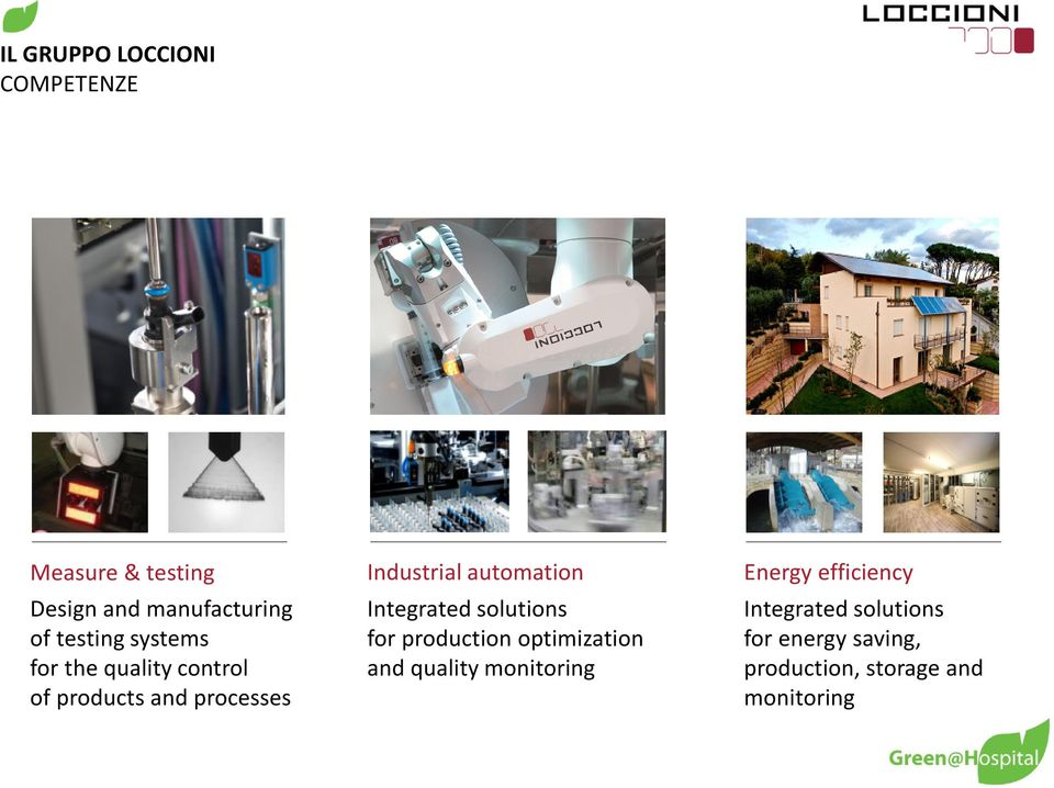 automation Integrated solutions for production optimization and quality
