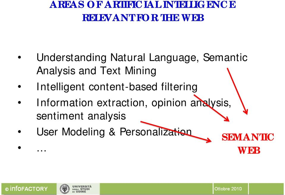 Intelligent content-based filtering Information extraction,