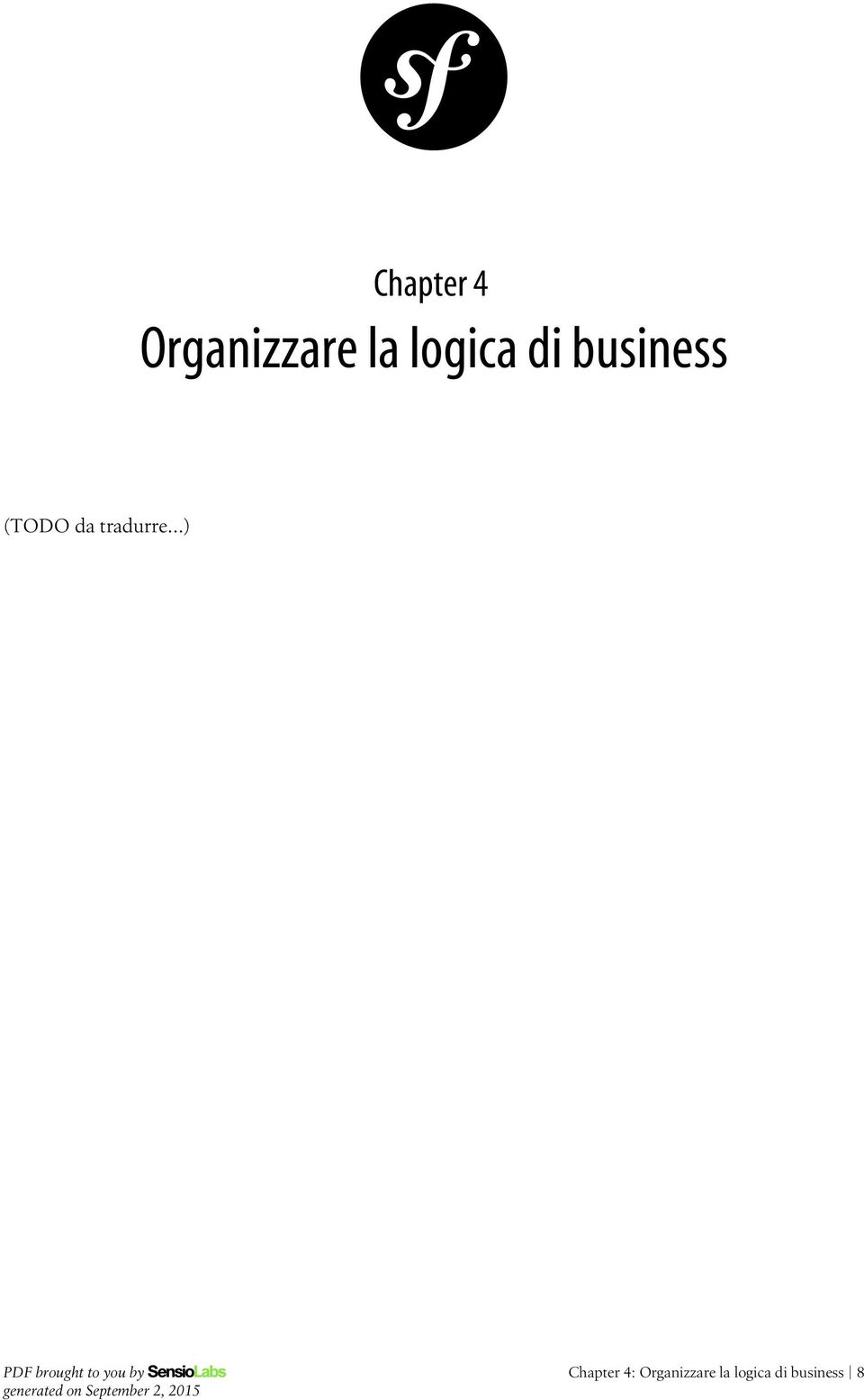 Chapter 4: Organizzare
