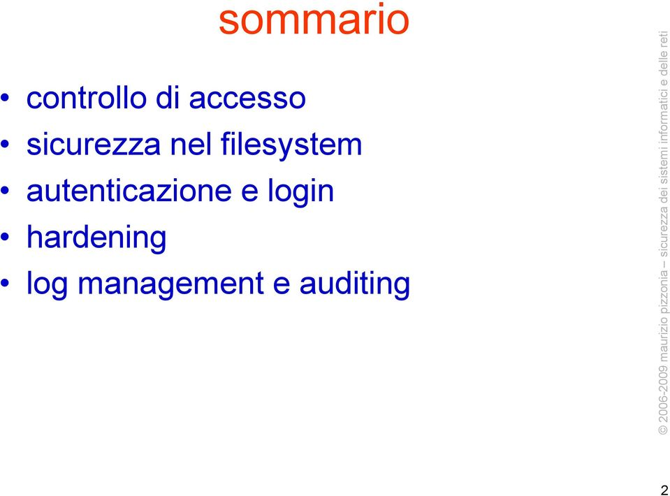 filesystem autenticazione e