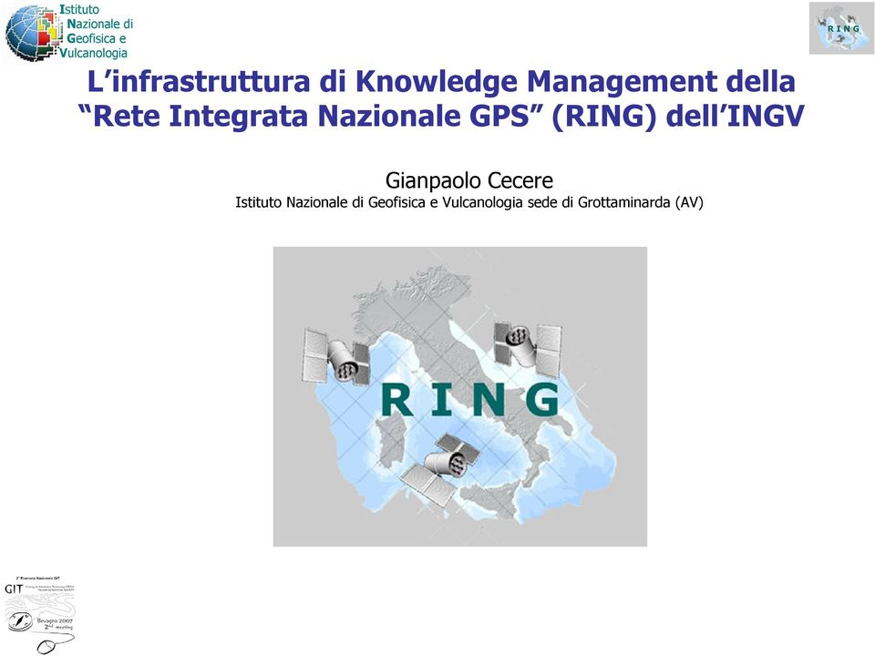 Nazionale GPS (RING) dell INGV