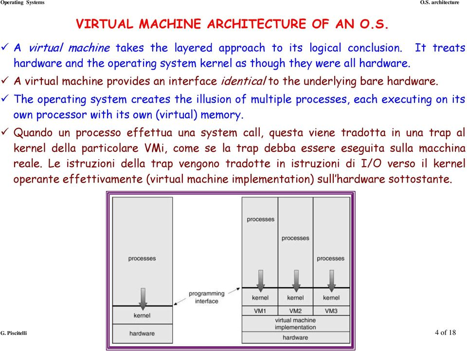 It treats The operating system creates the illusion of multiple processes, each executing on its own processor with its own (virtual) memory.