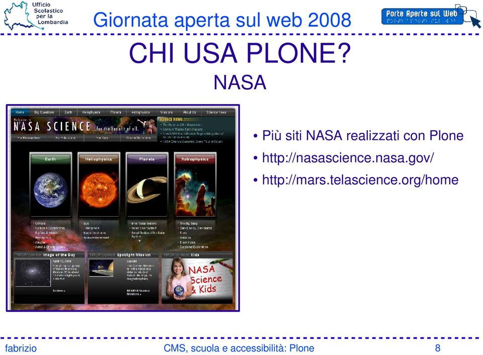 con Plone http://nasascience.