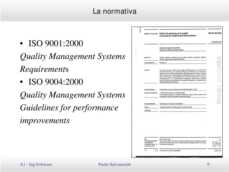Management Systems Guidelines for performance