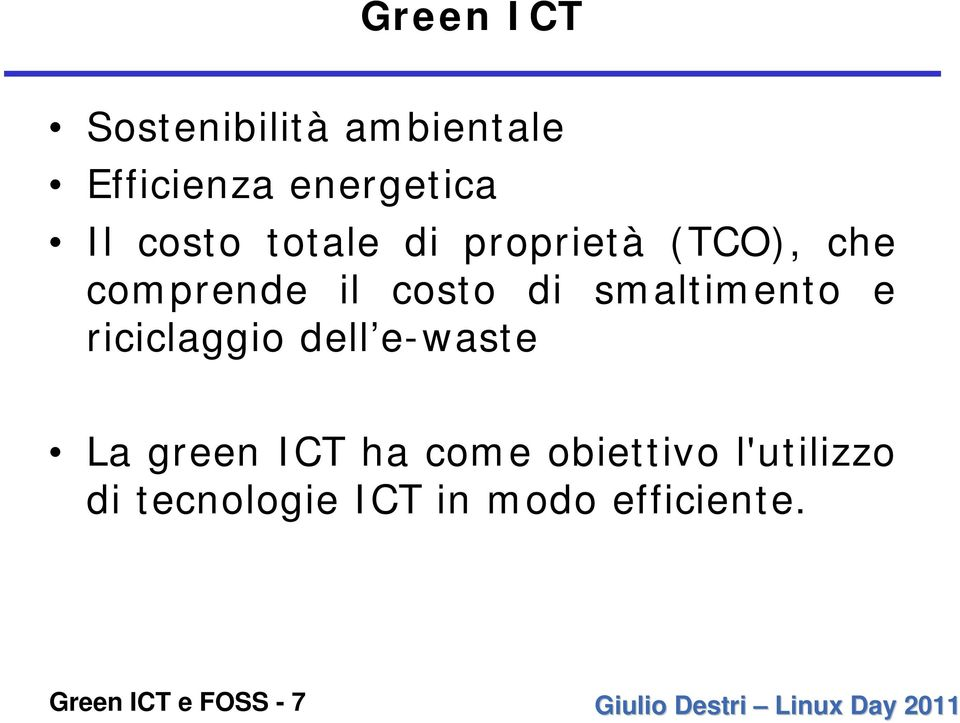 smaltimento e riciclaggio dell e-waste La green ICT ha come