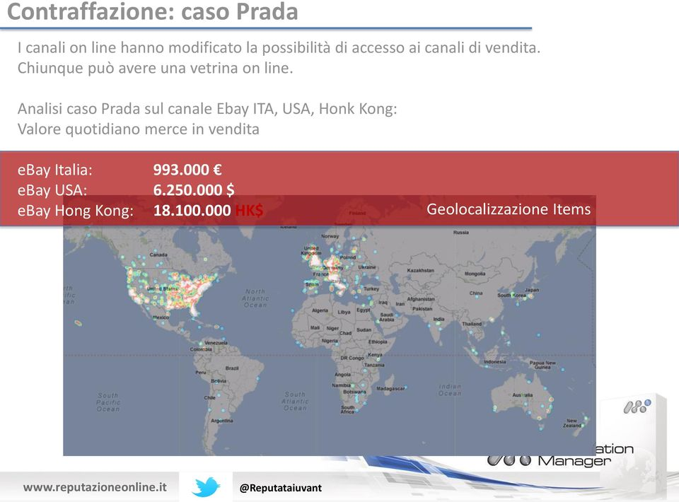 Analisi caso Prada sul canale Ebay ITA, USA, Honk Kong: Valore quotidiano merce in