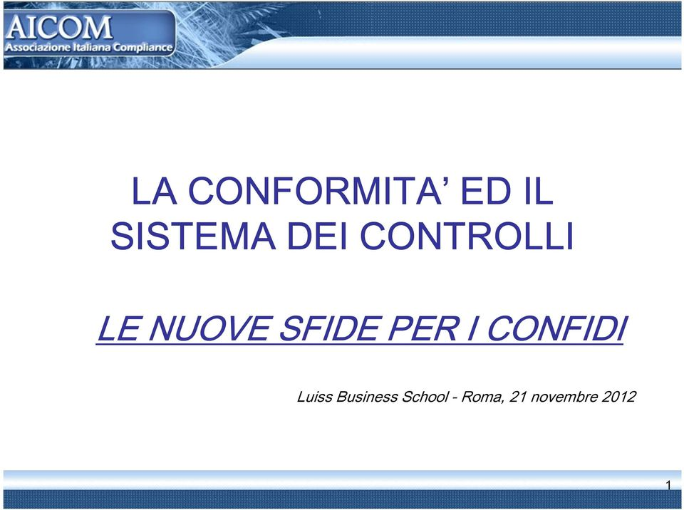 PER I CONFIDI Luiss Business