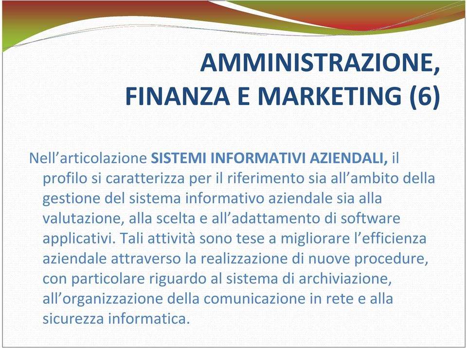 di software applicativi.