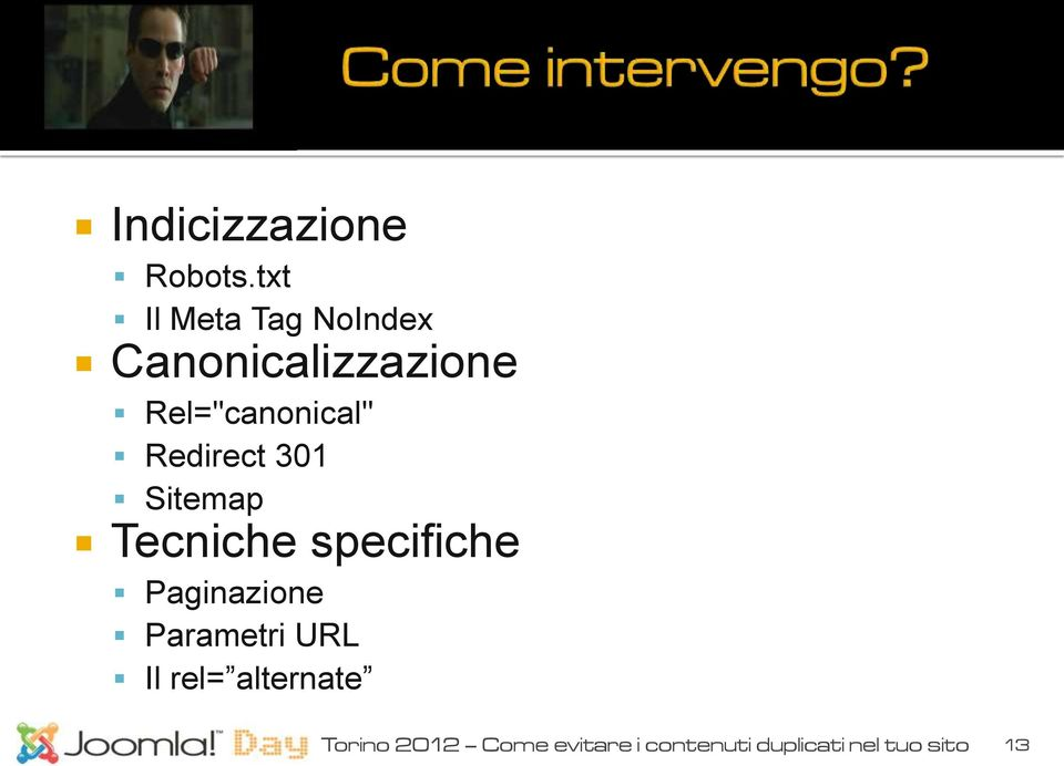 "Rel=""canonical"" Redirect 301 Sitemap Tecniche specifiche"