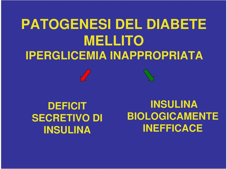 DEFICIT SECRETIVO DI INSULINA