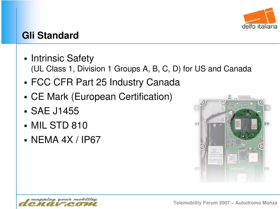 FCC CFR Part 25 Industry Canada CE Mark