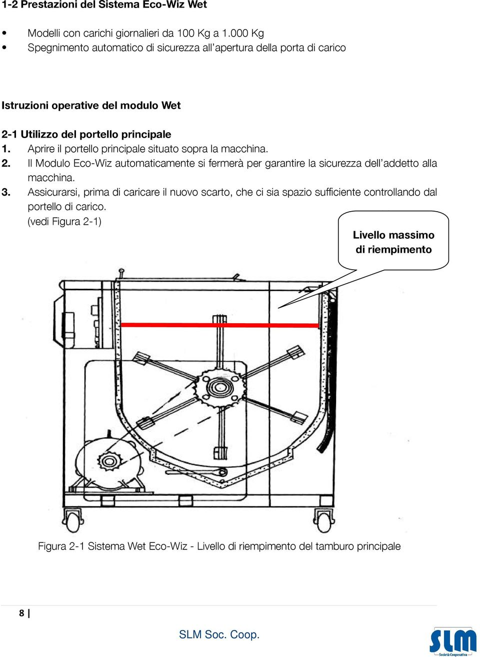ensuring safe operation OPERATING INSTRUCTIONS Wet Module Istruzioni operative del modulo Wet 2-1 Using the Main Hatch 2-1 Utilizzo del portello principale 1.