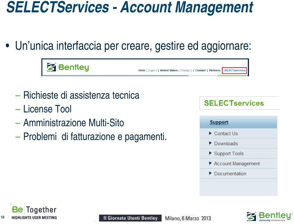 Richieste di assistenza tecnica License Tool