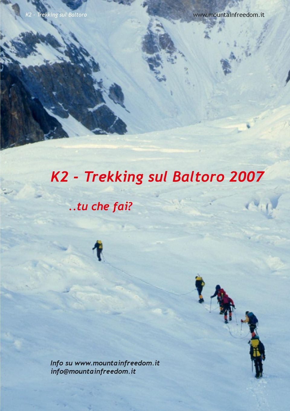 it K2 - Trekking sul Baltoro 2007.