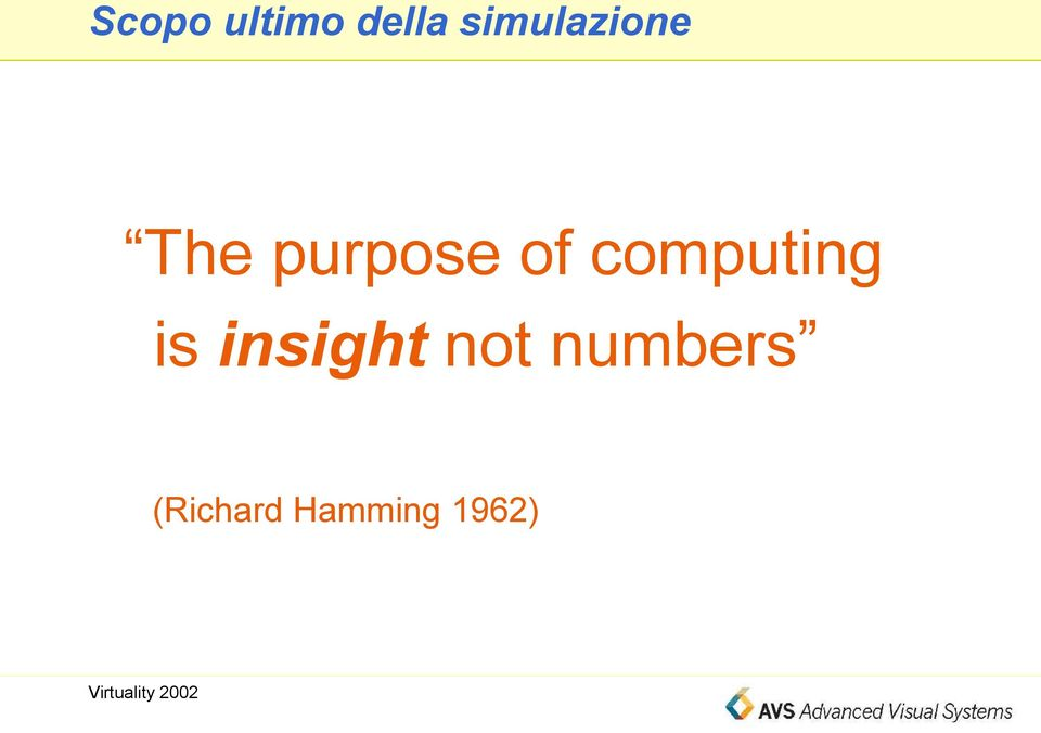 of computing is insight