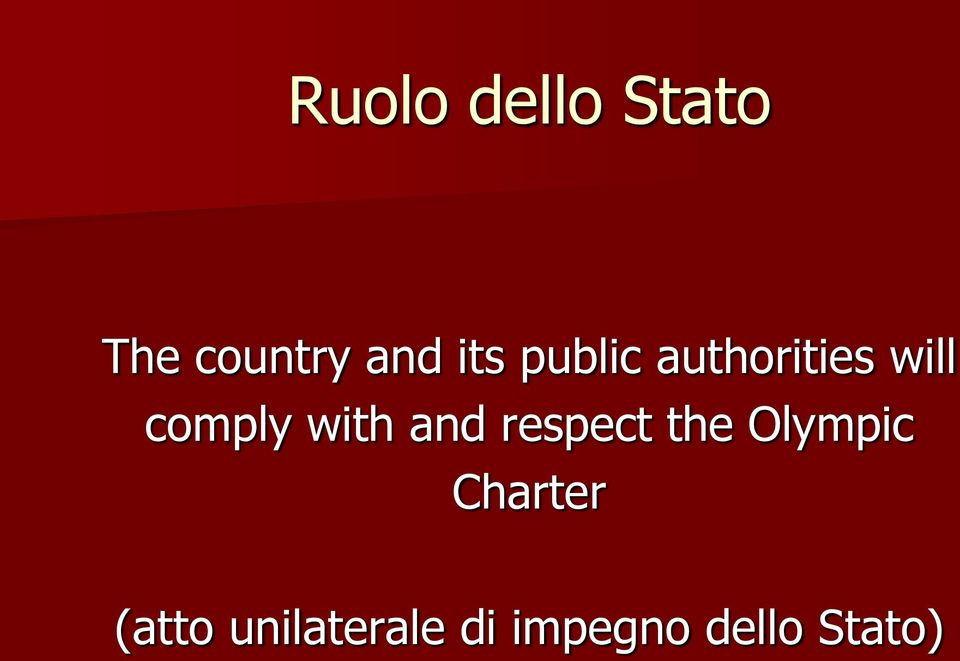 with and respect the Olympic Charter