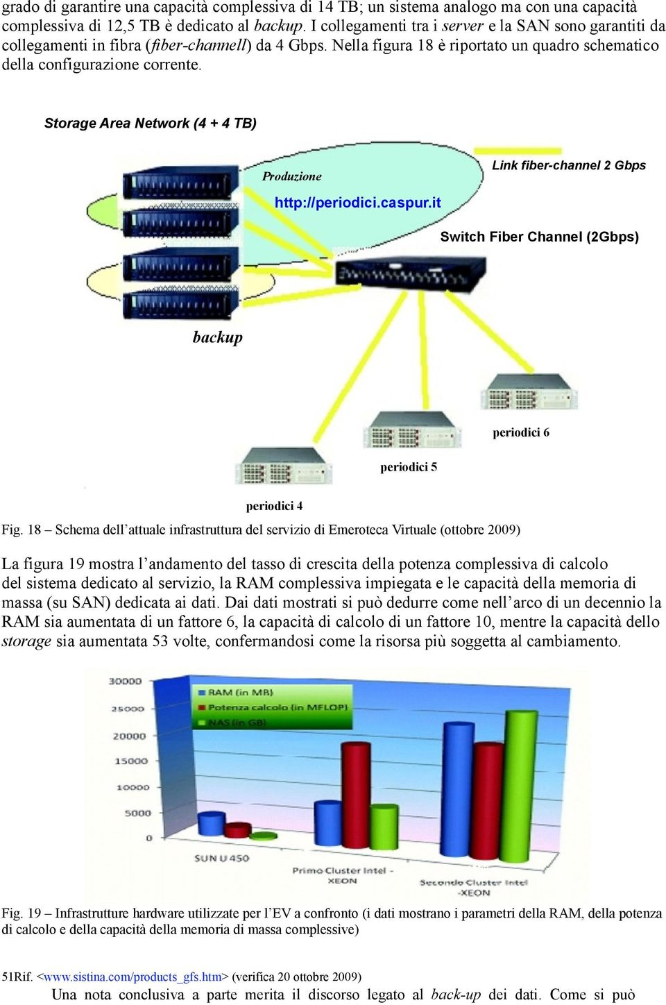 Storage Area Network (4 + 4 TB) Produzione Link fiber-channel 2 Gbps http://periodici.caspur.it Switch Fiber Channel (2Gbps) backup periodici 6 periodici 5 periodici 4 Fig.