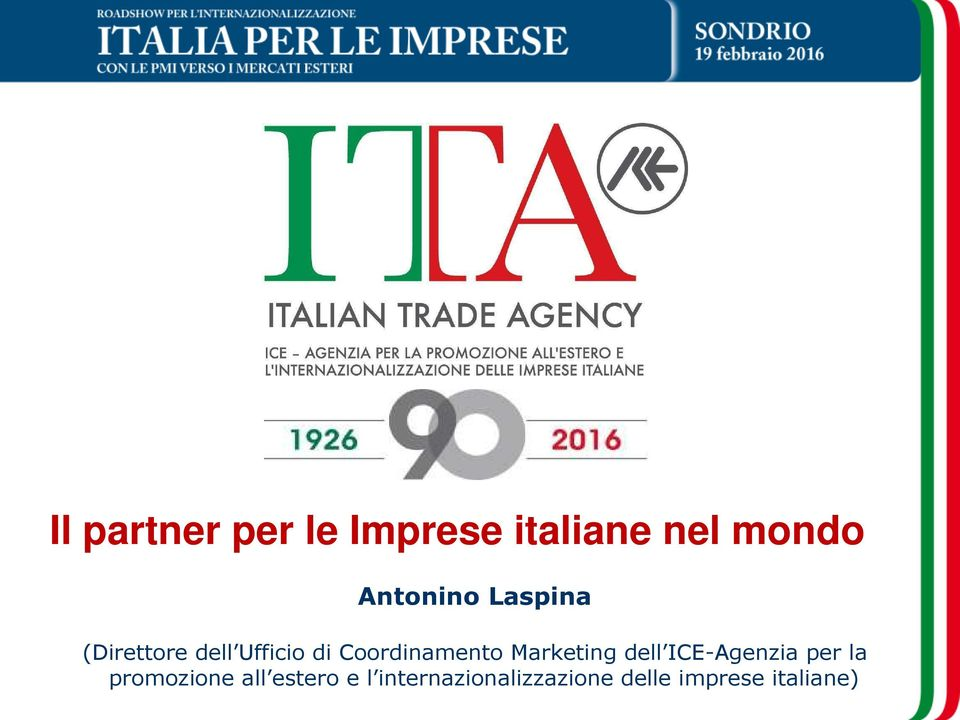Coordinamento Marketing dell ICE-Agenzia per la