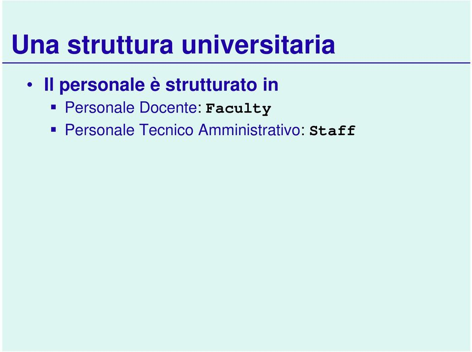 Personale Docente: Faculty