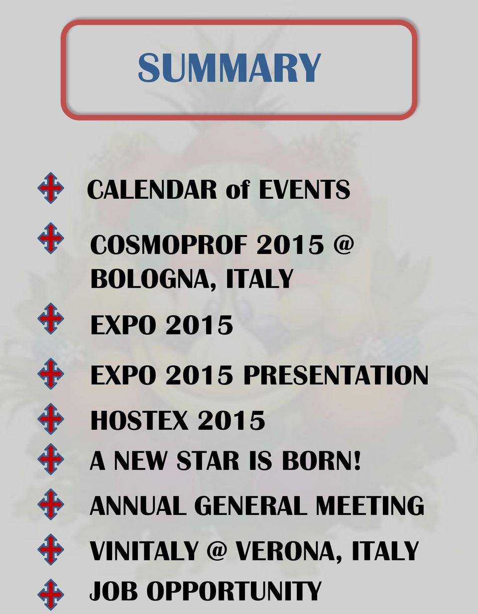 PRESENTATION HOSTEX 2015 A NEW STAR IS BORN!