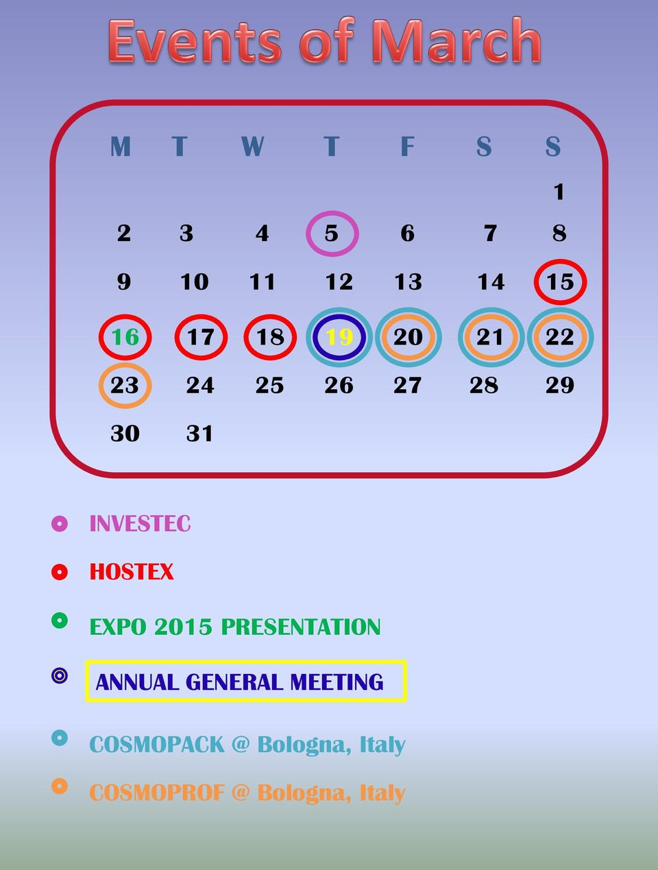 HOSTEX EXPO 2015 PRESENTATION ANNUAL GENERAL MEETING