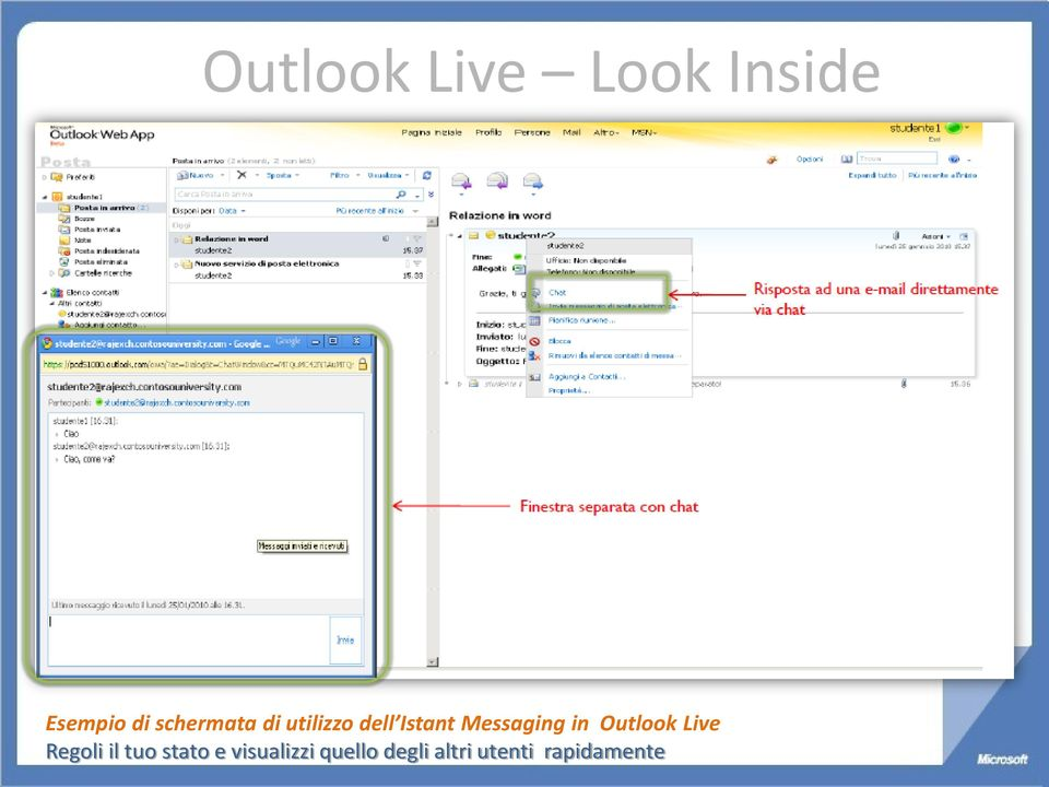 Messaging in Outlook Live Regoli il tuo