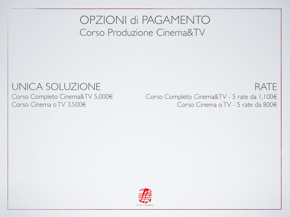 000 Corso Cinema o TV 3.