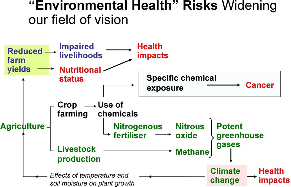 Use of chemicals Agriculture Nitrogenous fertiliser Livestock production Effects of temperature