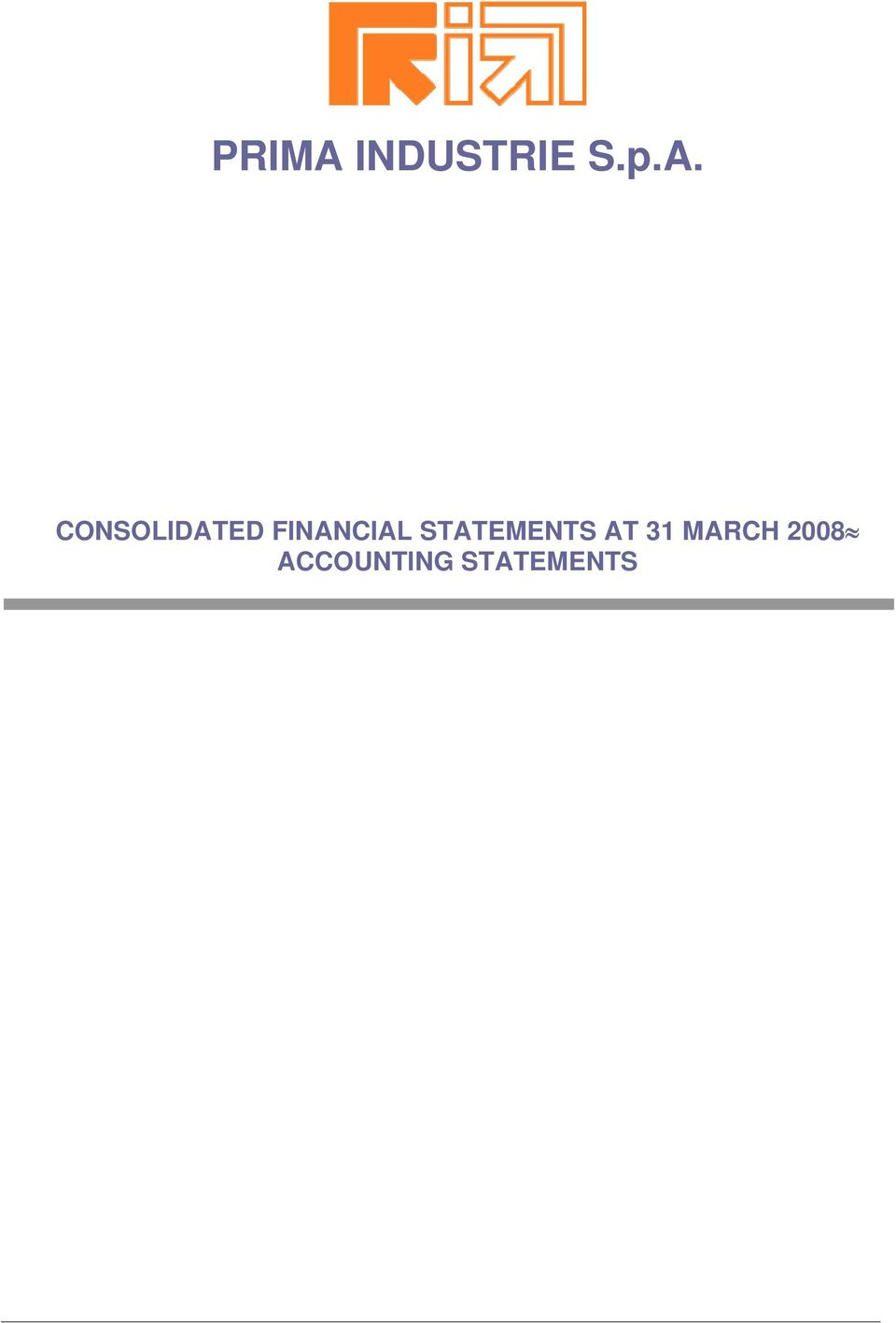 CONSOLIDATED FINANCIAL