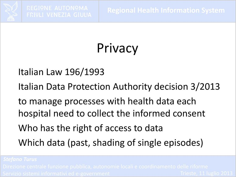 data each hospital need to collect the informed consent Who