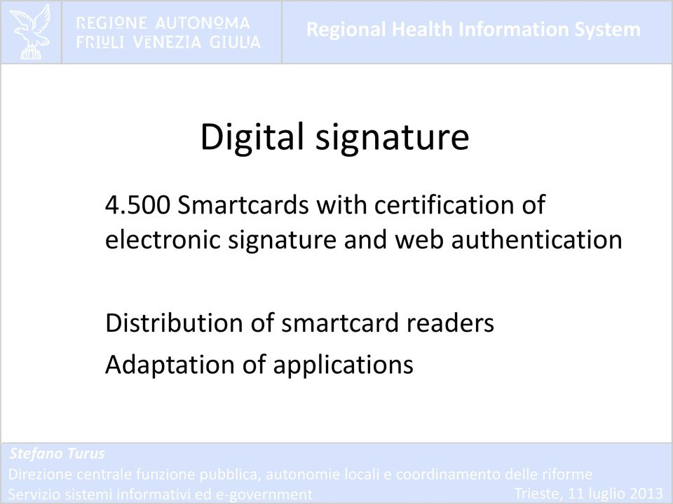 electronic signature and web