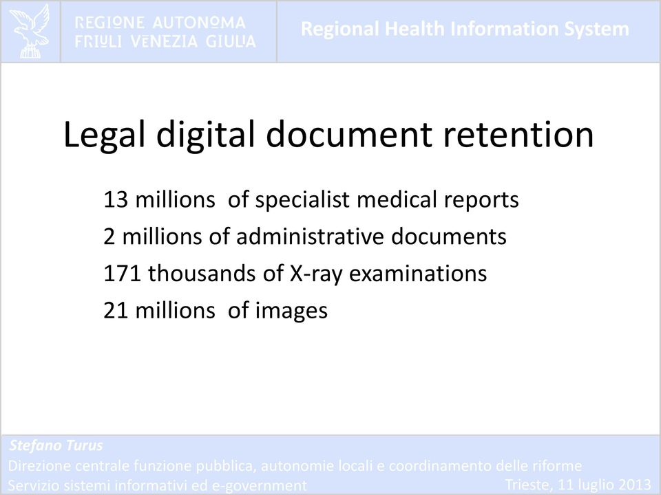 millions of administrative documents 171