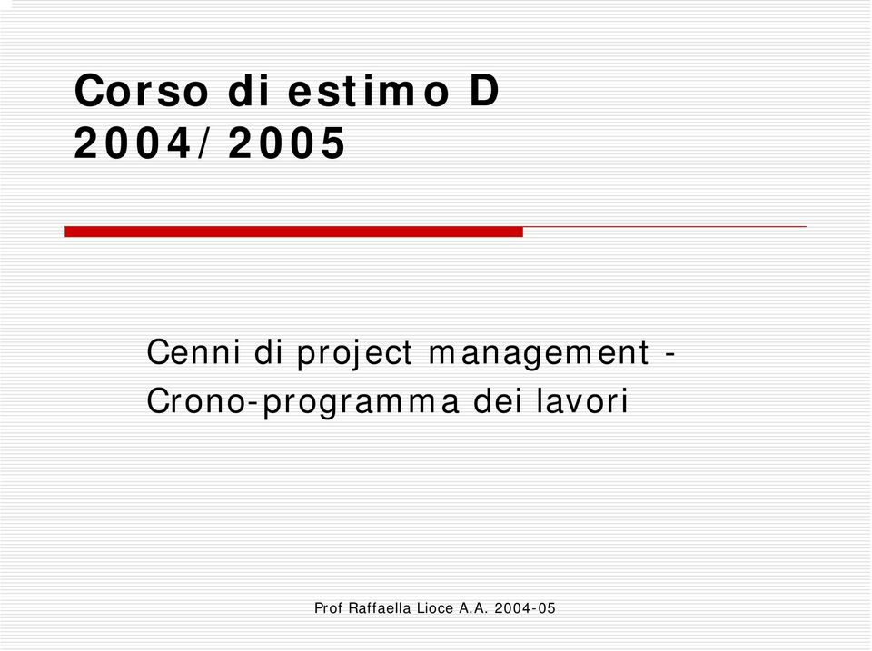 project management -