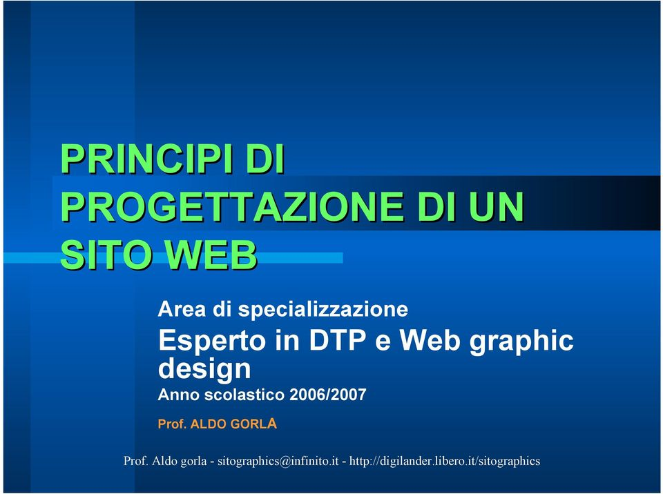 Esperto in DTP e Web graphic design