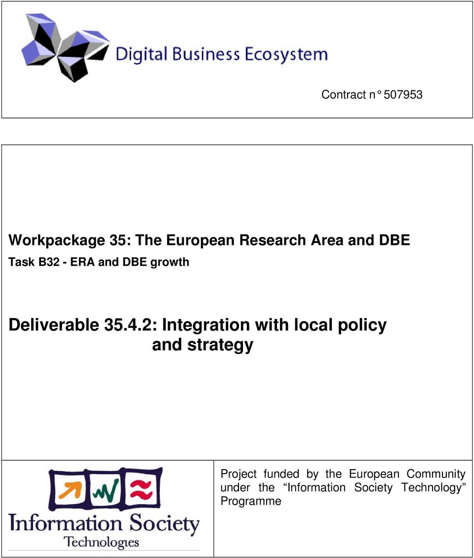 2: Integration with local policy and strategy Project funded by